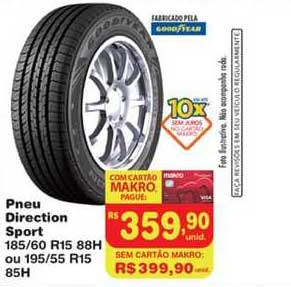 Makro Pneu Direction Sport 185 60 R15 88h Ou 195 55 R15 85h