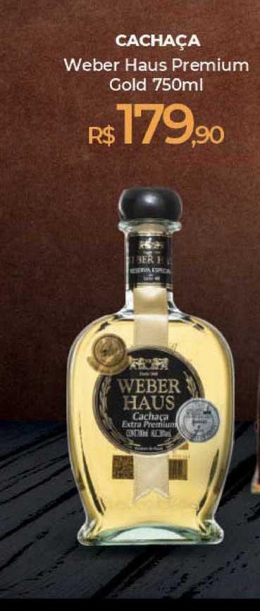 Peg Pese Cachaça Weber Haus Premium Gold