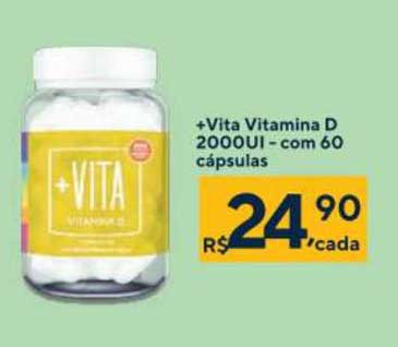 Drogarias Coop +vita Vitamina D 2000ui - Com 60 Cápsulas
