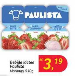 Hipermercado Big Bebida Láctea Paulista Morango
