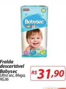 Mercadorama Fralda Descartável Babysec Ultra Sec Mega Xg36