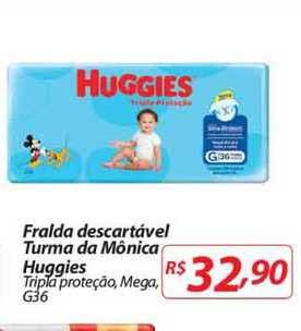 Mercadorama Fralda Descartável Turma Da Mônica Huggies Tripla Proteção Mega G36