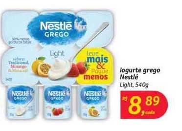Hipermercado Big Iogurte Grego Nestlé Light