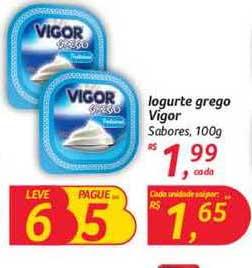 Hipermercado Big Iogurte Grego Vigor Sabores Leve 6 Pague 5