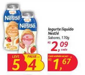 Hipermercado Big Iogurte Líquido Nestlé Sabores Leve 5 Pague 4