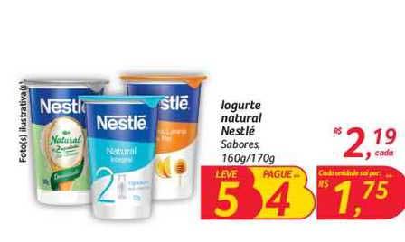 Hipermercado Big Iogurte Natural Nestlé Sabores Leve 5 Pague 4