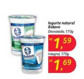 Hipermercado Big Iogurte Naturla Batavo Desnatado Integral