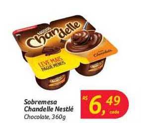 Hipermercado Big Sobremesa Chandelle Nestlé Chocolate