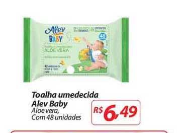 Mercadorama Toalha Umedecida Alev Baby Aloe Vera