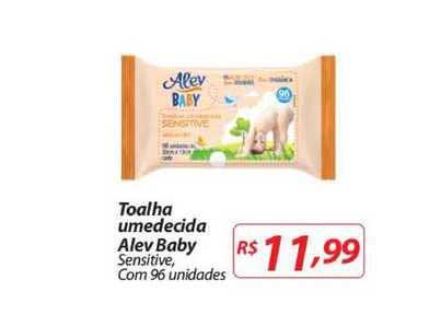 Mercadorama Toalha Umedecida Alev Baby Sensitive