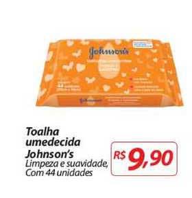 Mercadorama Toalha Umedecida Johnson's Limpeza E Suavidade