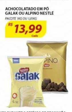 Assaí Atacadista Achocolatado Em Po Galak Ou Alpino Nestlé