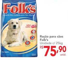 Makro Ração Para Cães Folk's