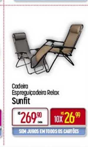 Super Muffato Cadeira Espreguiçadeira Relax Sunfit