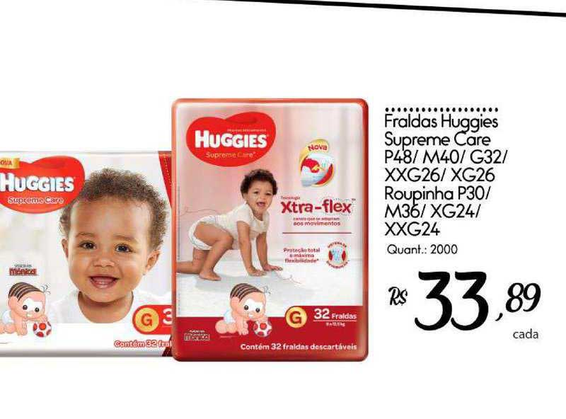Giassi Supermercados Fraldas Huggies Supreme Care