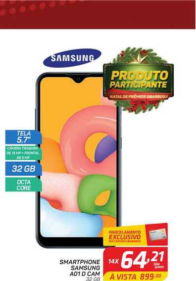 GBarbosa Smartphone Samsung A01 D Cam