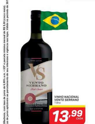 GBarbosa Vinho Nacional Vento Serrano