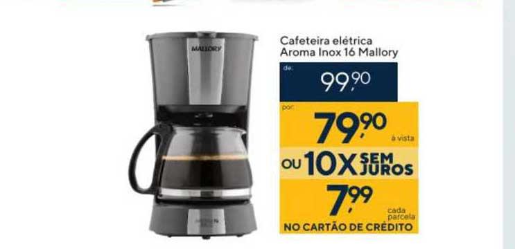 Coop Cafeteira Elétrica Aroma Inox 16 Mallory
