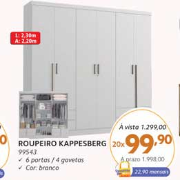 Benoit Roupeiro Kappesberg 99543 6 Portas 4 Gavetas
