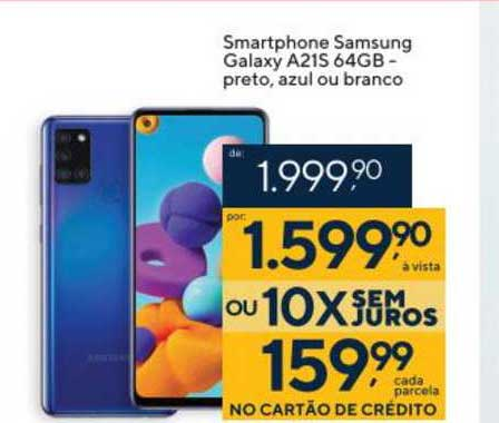 Coop Smartphone Samsung Galaxy A21 64gb Preto Azul Ou Branco