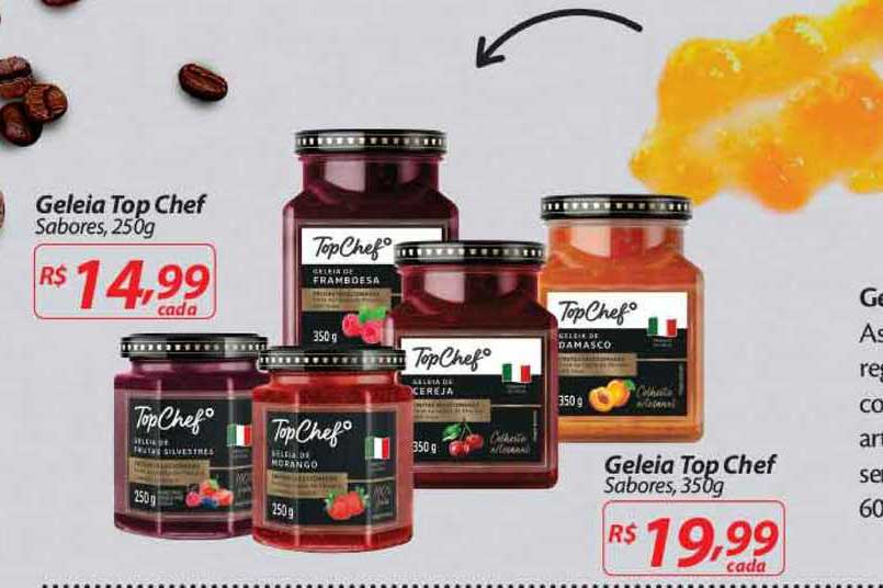Nacional Geleia Top Chef Sabores 250g Geleia Top Chef Sabores 350g