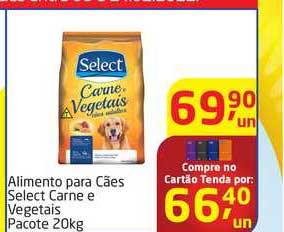 Tenda Atacado Alimento Para Cães Select Carne E Vegetais