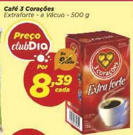 Supermercado Dia Café 3 Corações Extraforte A Vácuo