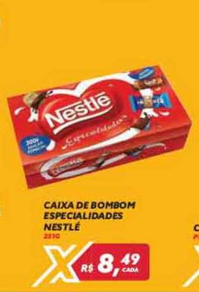 Maxxi Atacado Caixa De Bombom Especialidades Nestlé