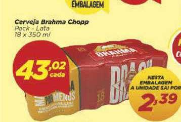 Supermercado Dia Cerveja Brahma Chopp Pack Lata
