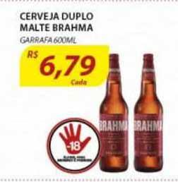 Assaí Atacadista Cerveja Duplo Malte Brahma Garrafa
