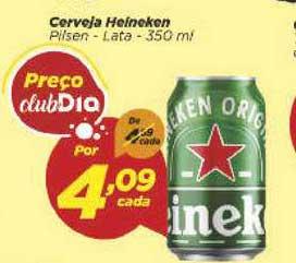 Supermercado Dia Cerveja Heineken Pilsen Lata