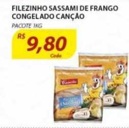 Assaí Atacadista Filezinho Sassami De Frango Congelado Canção Pacote