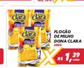 Maxxi Atacado Flocão De Milho Dona Clara