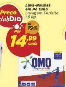 Supermercado Dia Lava Roupas Em Pó Omo Lavagem Perfeita