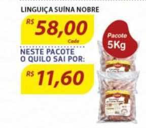Assaí Atacadista Linguiça Suína Nobre