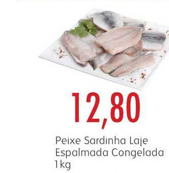 Epa Peixe Sardinha Laje Espalmada Congelada 1kg
