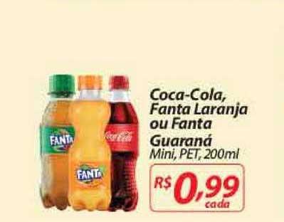 Mercadorama Coca Cola Fanta Laranja Ou Fanta Guaraná