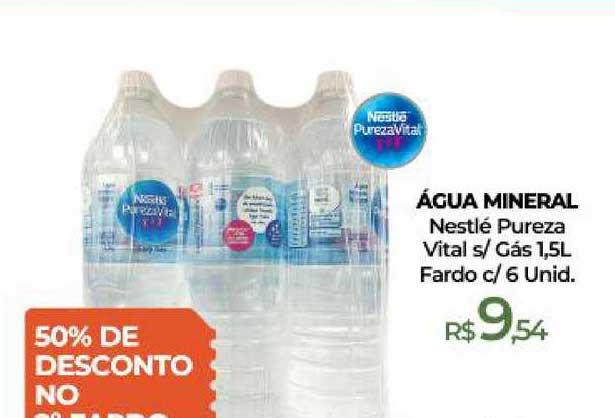 Peg Pese água Mineral Nestlé Pureza Vital S Gás Fardo 50% De Desconto