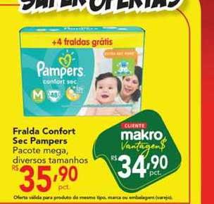 Makro Fralda Confort Sec Pampers