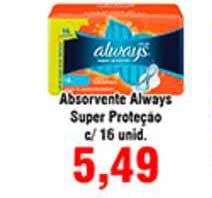 Shibata Supermercados Absorvente Always Super Proteçao