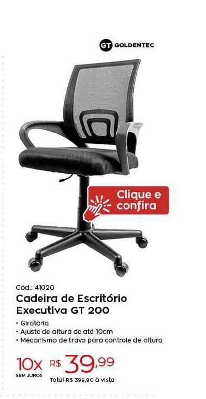 Ibyte Cadeira De Escritório Executiva Gt200