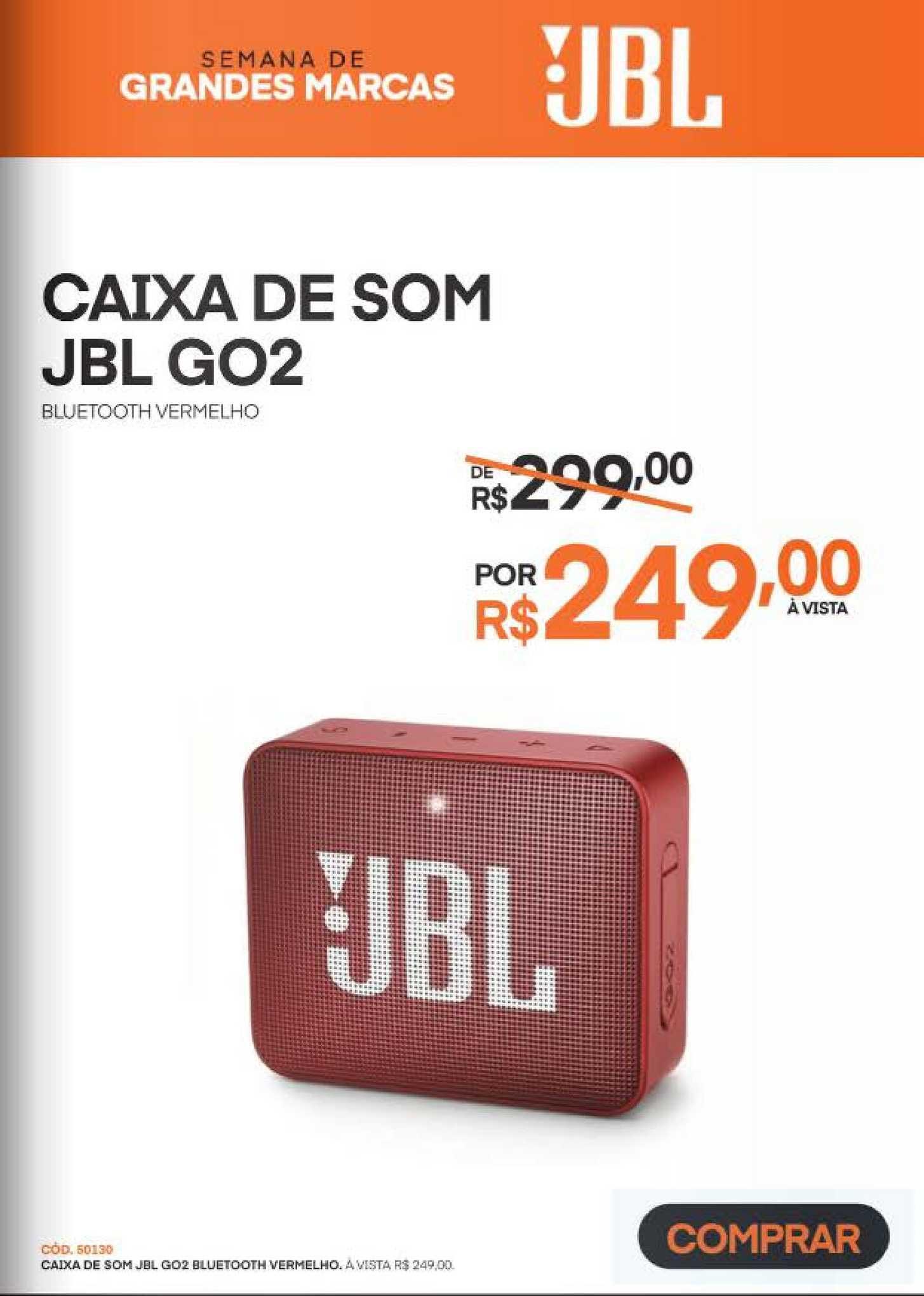 Schumann Caixa De Som Jbl Go2 Bluetooth Vermelho