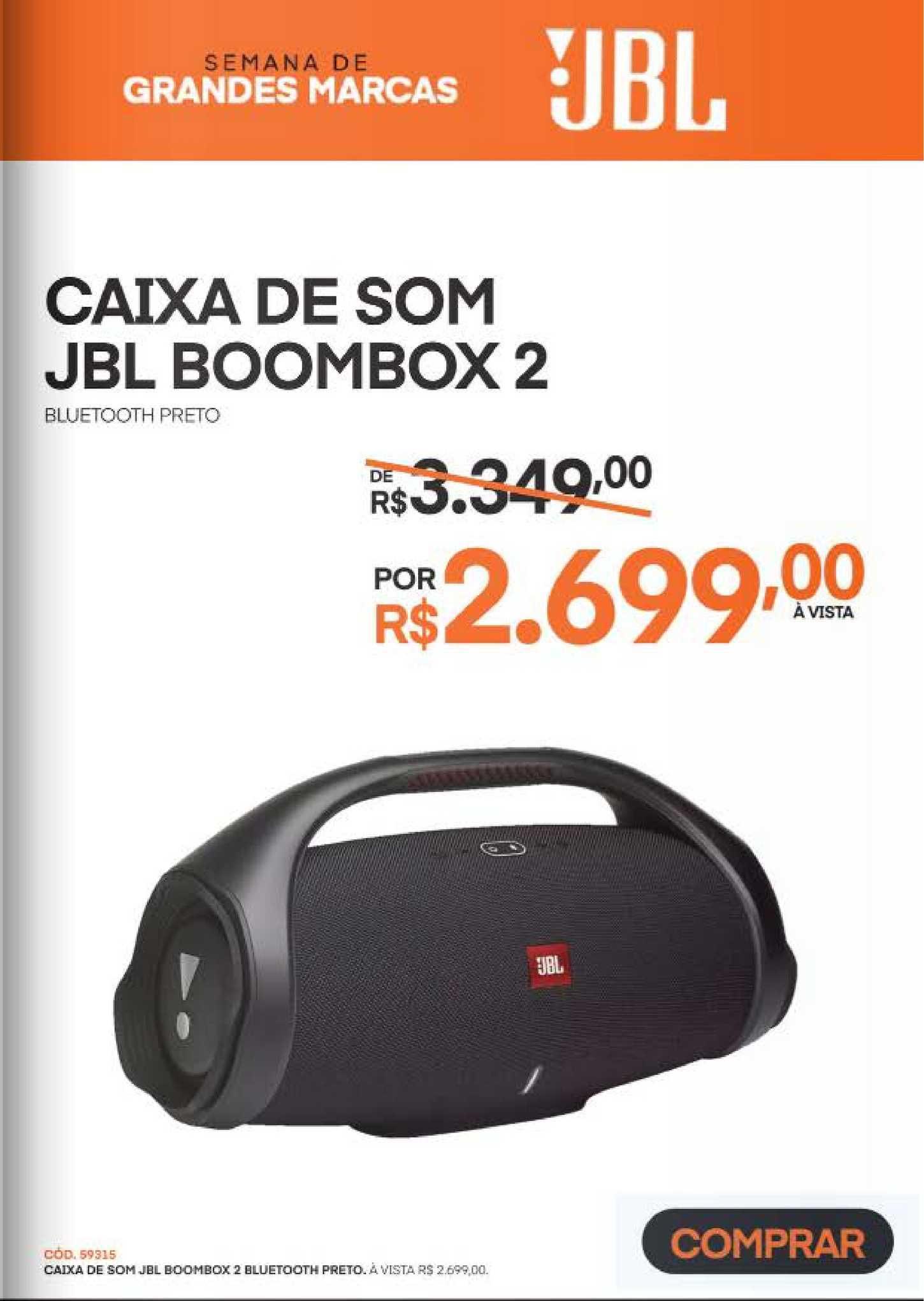 Schumann Caixa De Som Jbl Boombox 2