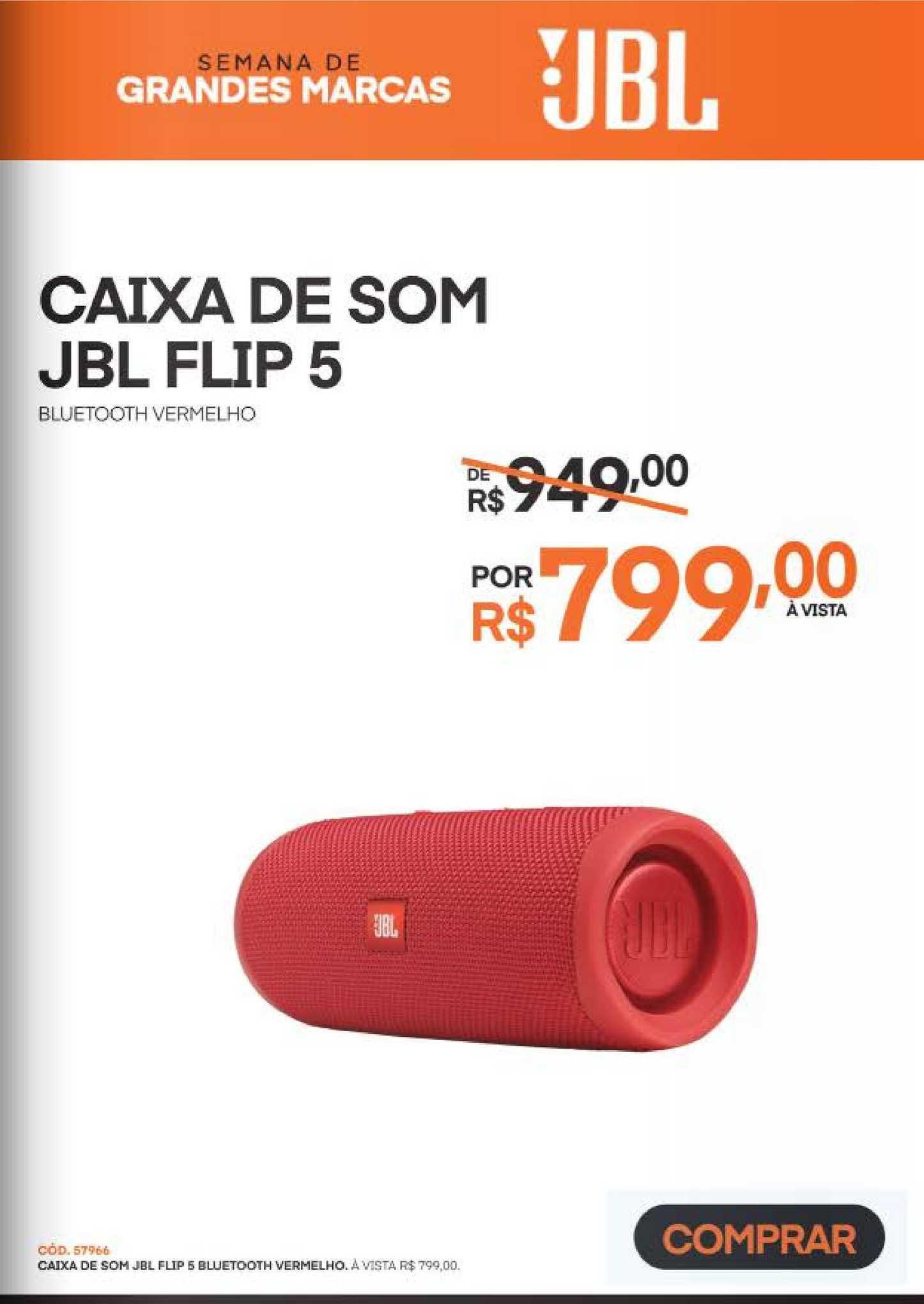 Schumann Caixa De Som Jbl Flip 5