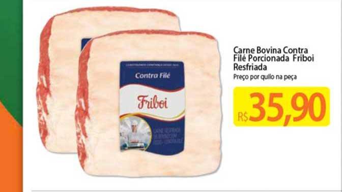 Atacadão Carne Bovina Contra Filé Porcionada Friboi Resfriada