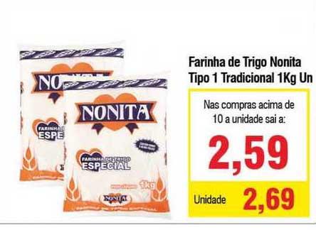 Spani Atacadista Farinha De Trigo Nonita Tipo 1 Tradicional