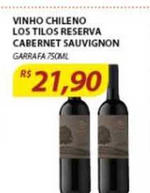 Assaí Atacadista Vinho Chileno Los Tilos Reserva Cabernet Sauvignon