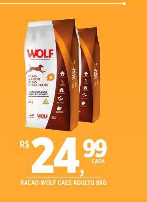 DB Supermercados Racao Wolf Caes Adulto