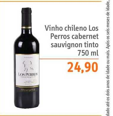 Sonda Supermercados Vinho Chileno Los Perros Cabernet Sauvignon Tinto