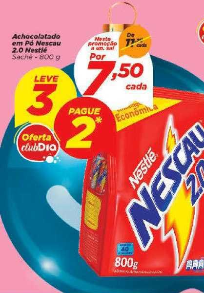 Supermercado Dia Achocolatado Em Pó Nescau 2.0 Nestlé